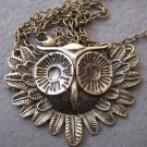 Alloy Metal Owl Pendant Necklace 600mm*58mm  T2492