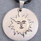 Alloy Metal Happy Sun Face Pendant Necklace 32mm*32mm  T2494
