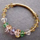 Multi-Color Faceted Crystal Quartz Beads Bracelet  T2512