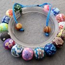 11mm Multi-Color Fimo Flower Beads Adjustable Bracelet  T2513