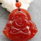 Red Agate Tibet Buddhist Fortune Buddha Amulet Pendant 29mm*29mm  T2430