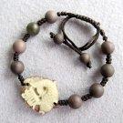 Zipao Jade Word GUI Porsperous Fish Bead Beads Bracelet  T2459