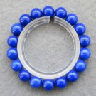 10mm Blue Jade Beads Bracelet  T2521