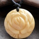 Ox Bone Carved Flower Pendant 25mm*25mm  T2533
