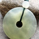 Xiu Jade Circle Donut Peace Button Pendant 25mm*25mm  T2537