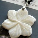 Natural Sea Shell Flower Pendant 34mm*30mm  T2547