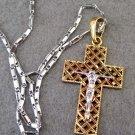 Alloy Metal Christian Jesus Cross Crucifix Pendant Necklace 32mm*20mm  T2550