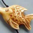 Ox Bone Carved Fish Pendant Bead 40mm*26mm  T2660
