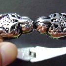 Alloy Metal Twin Leopard Heads Bangle Bracelet  T2565