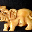 Ox Bone Carved Long Nose Elephant Pendant Bead 50mm*30mm  T2567