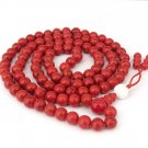 8mm 108 Red Turquoise Beads Tibet Buddhist Prayer Mala Necklace  ZZ212