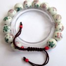 Hand Crafted Porcelain Flower Beads Bracelet  T2585