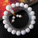 10mm Tridacna Shell Flower Beads Buddhist Prayer Mala Bracelet  T2586