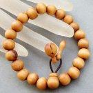 10mm Wood Beads Budddhist Prayer Wrist Mala Bracelet  T2595