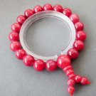 10mm Rose Pink Jade Beads Buddhist Prayer Wrist Mala  T2615
