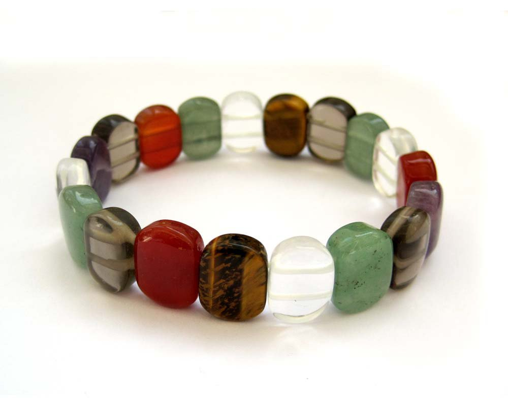 Multiple Color Natural Stone Beads Bracelet  T2681