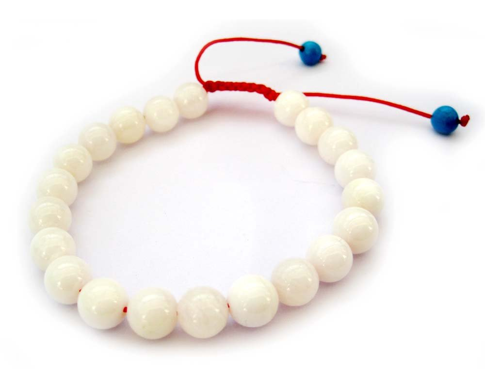 8mm Sea Shell Beads Bracelet  T2694