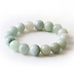 13mm Grade A Jadeite Jade Global Beads Bracelet  T2825