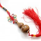 Green Sandalwood Lucky Gourd Knot Amulet Pendant Hanging  T2842