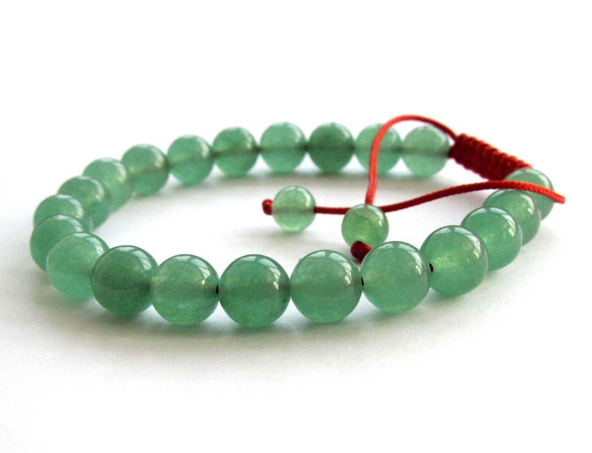 8mm Green Ayenturine Dong-Ling Jade Beads Bracelet  T2858