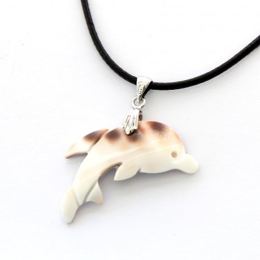 Natural Sea Shell Dolphin Pendant 33mm*14mm  T2868