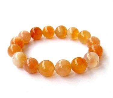 12mm Agate Gem Beads Bracelet  T2906