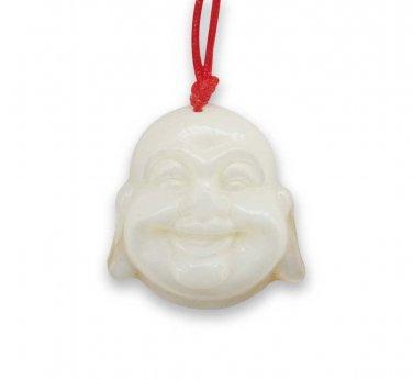 Sea Shell Buddhist Laughing Buddha Head Amulet Pendant 22mm*21mm  T2911