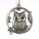 Alloy Metal Owl Pendant Necklace Chain 67mm*60mm  T2947