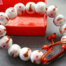 12mm Hand Crafted Porcelain Beads Bracelet  T1838