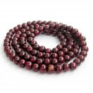 8mm 108 Wood Beads Tibet Buddhist Prayer Necklace FO  ZZ231