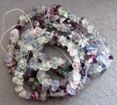 One Full Multi-Color Glass Chip Beads Strand--Length In 880mm  ja0057
