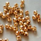 100Pieces Alloy Metal Plated Golden Small Rondelle Beads Finding 4mm*3mm  ja187