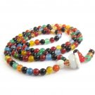 6mm Tibetan Buddhist Flower Agate Gemstone 108 Prayer Beads Rosary Beaded Japa Mala  ZZ263