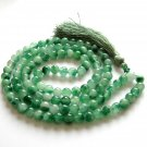 8mm Tibetan Round Green Stone Buddhist 108 Prayer Beads Rosary Beaded Mala Necklace  ZZ265