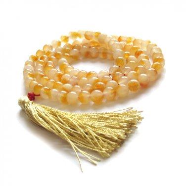 8mm 108 Round Stone Meditation Yoga Tibet Buddhist Prayer Beads Mala Necklace  ZZ267