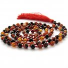 Knotted Dream Agate Gemstone Meditation Yoga 108 Prayer Beads Mala  ZZ277