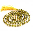 6mm Yellow Dragon Skin Agate Gemstone Tibetan Buddhist 108 Prayer Beads Japa Mala Knotted  ZZ279