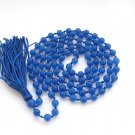 6mm Round Blue Stone 108 Rosary Beaded Tibet Buddhist Prayer Beads Mala  ZZ286