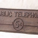Cast Iron Public Telephone Plaque