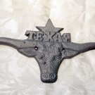 Cast Iron Large Texas Longhorn Plaque