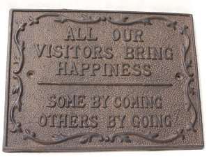 Cast Iron Visitor's Plaque