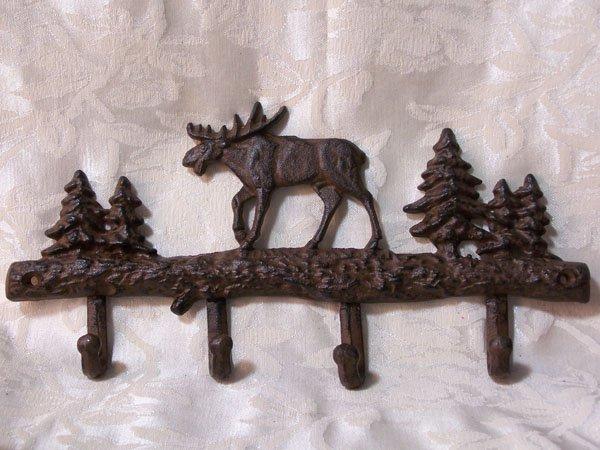Cast Iron Moose Coat/Hat Hanger