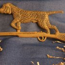 Hunting Dog On Rifle Plaque RUST