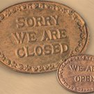 Cast Iron CLOSED/OPEN Sign