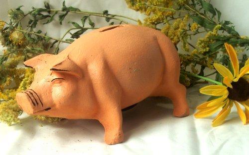 Cast Iron Pink Piggy Bank
