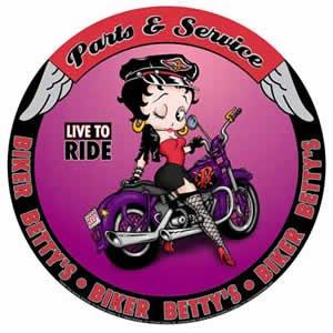Betty Boop Parts & Service Round