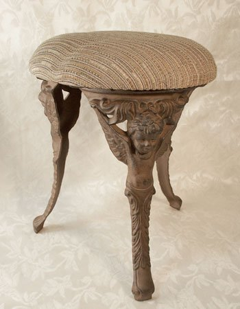 Tall Cast Iron 3 Legged Angel Stool