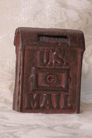 Cast Iron Mail Box Bank