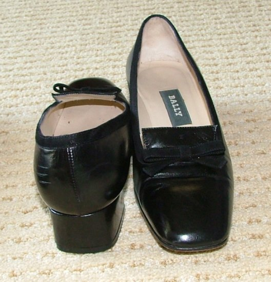 Vintage Bally Danks Black Womens 5 1/2 M