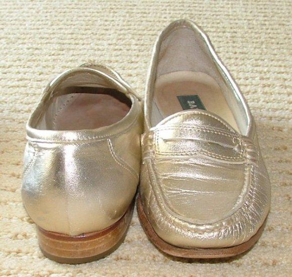 Vintage BALLY Mauria Gold Womens 5 1/5 M